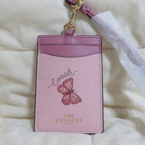 Coach Butterfly Lanyard (Pink/Multi)